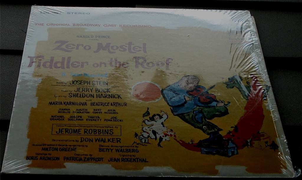 Fiddler On The Roof Original Cast Recording Vintage Lp