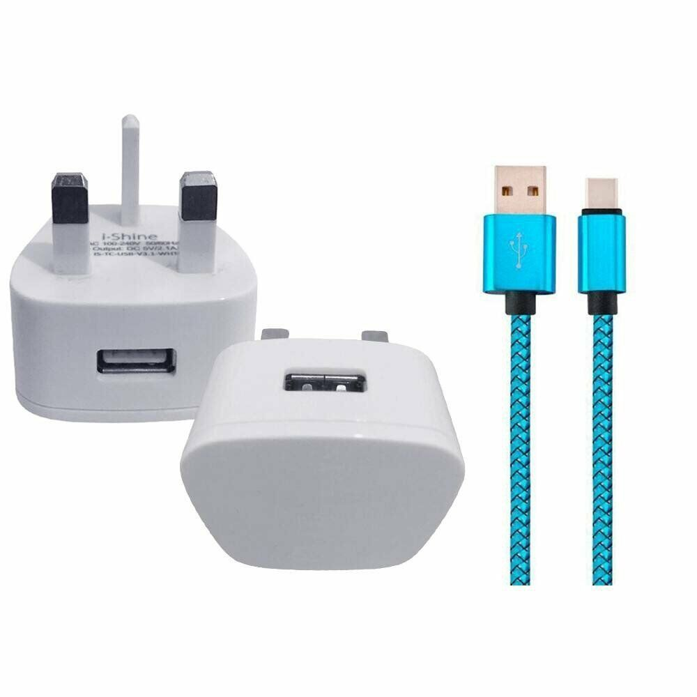 Nokia 5.1 Plus (Nokia X5) REPLACEMENT WALL CHARGER & USB 3.1 DATA SYNC LEAD