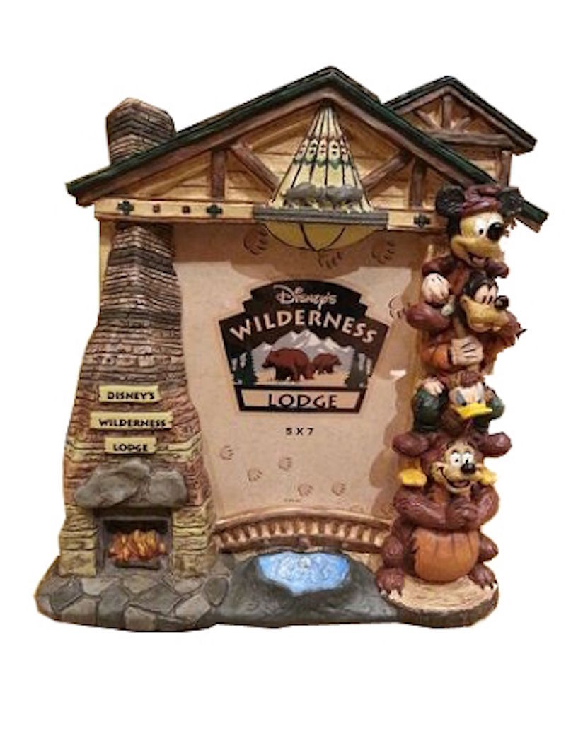 disney parks photo frame wilderness lodge arch mickey and friends new 3714 - Disney Photo Frames