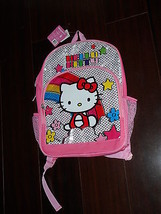 Saniro Hello Kitty Backpack Book Bag Pink Colorful New - $17.93