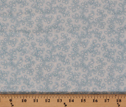 Vintage Roses Floral White Flowers on Blue Cotton Fabric Print by Yard D301.12 - $8.99
