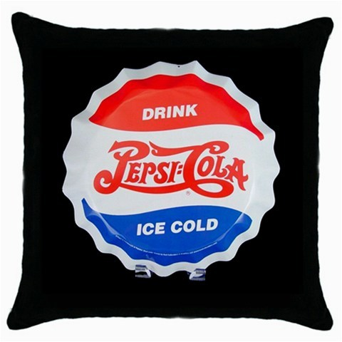 Pepsi Cola  Retro/Vintage Logo Black Cushion Cover Throw Pillow Case
