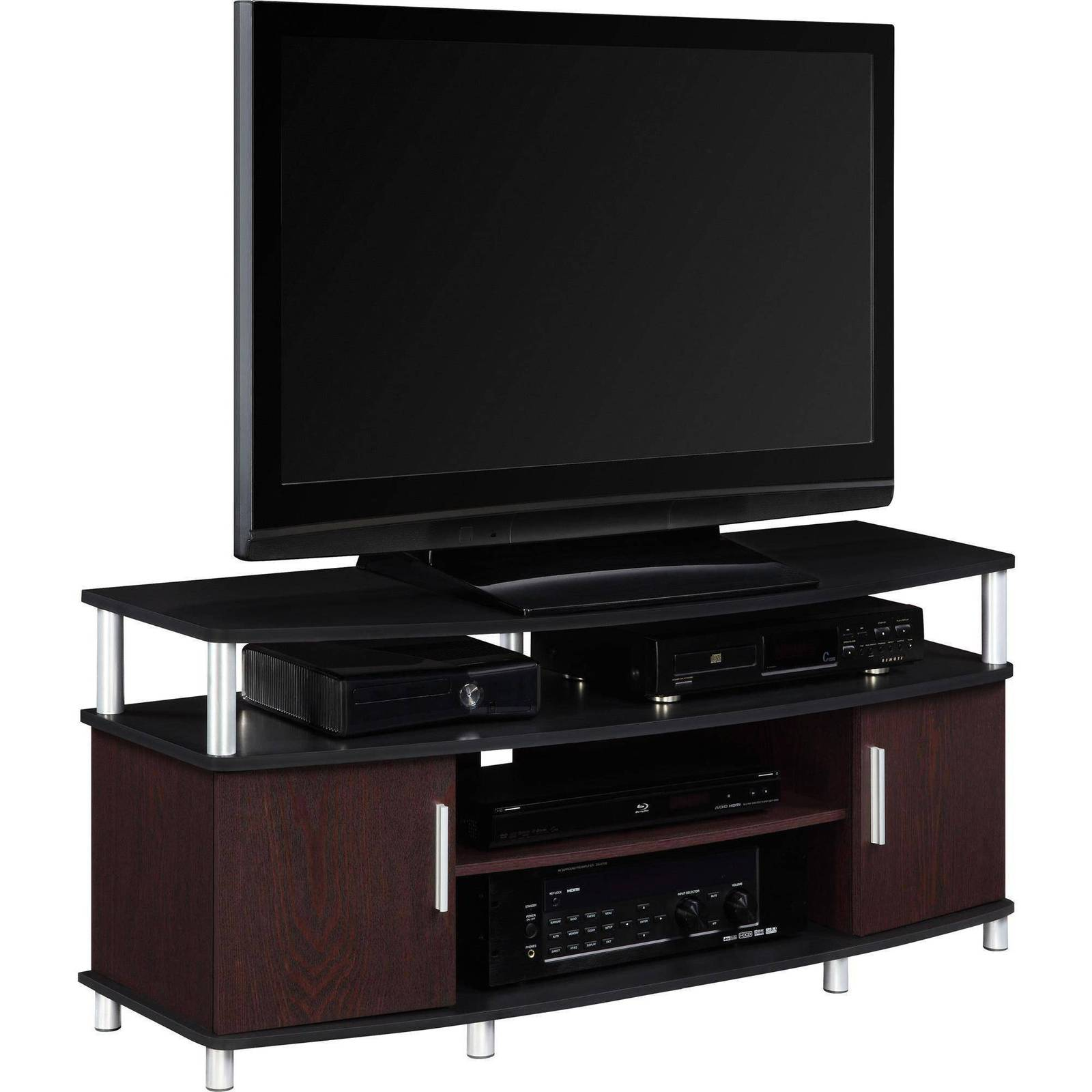 Tv stand entertainment center media home furniture storage for Tv media storage cabinet