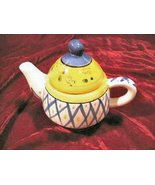 Fabulous New Bella Casa Ganz Hand Painted Tea For One Kettle - $19.50