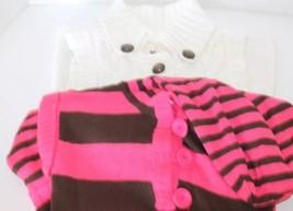 Lot of 2 Sweater Dress Kid Girl Fuschia Hoodie Cherokee Between Cable Kn... - $15.51