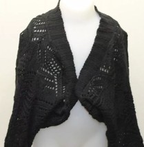 725 Originals Bolero Kid Girl Black S/M Made In USA Open Cardigan Overpiece - $10.20