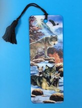 Gift Trenz A New Dawn Wolf Wolves 3D Tassel Bookmark by Howard Robinson ... - $2.99