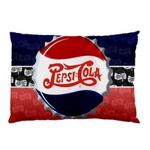 "NEW Pepsi Cola Retro Logo Pillow Case 30""X20"" Full Size Pillowcase  - $19.00"