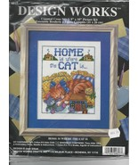 Cross Stitch Kit - Home is Where the Cat is, De... - $12.96