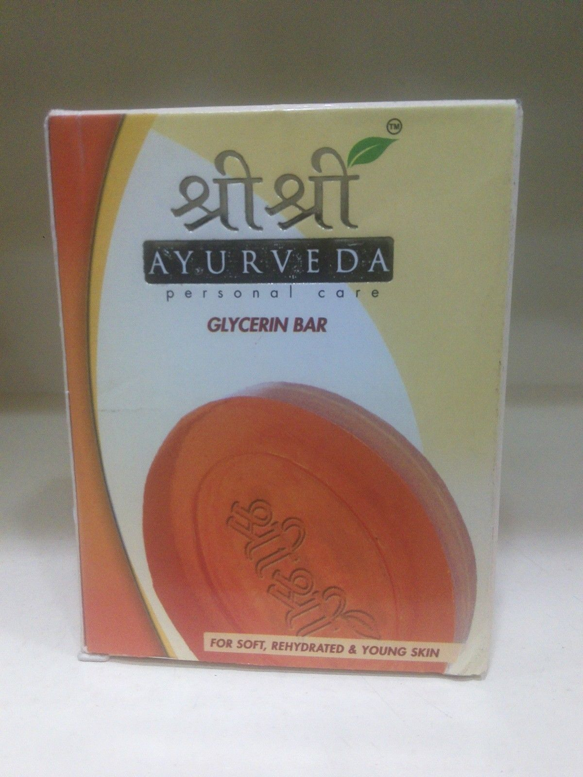 Sri Sri Ayurveda Glycerin soap 75gm For Soft,Re-hydrated & Young Skin Free Shipp