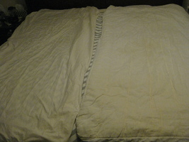 Extra Long Twin Mattress Pad and Fitted Cotton Sheet White Cream - $12.00