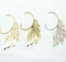 Cool Punk Style Feather Wing Earring(Silver) - $6.39