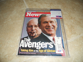 Dick Cheney Vice President Signed Autographed Magazine Photo PSA Certified - $189.99