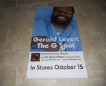 "Gerald Levert The G Spot Promo Music CD Poster 11"" x 20"" Rare Limited"