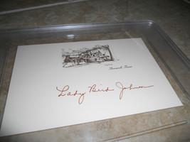 Lady Bird Johnson 1st Lady  Signed 4x6 Card LBJ Ranch Graded Gem Mint 10 - $99.99