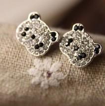 Sparkling Panda Earrings - $6.29