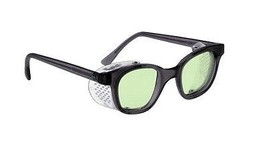 Light Green Glassblowing Glasses in Plastic Safety Frame With Shields - ... - $37.40