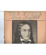 Vintage 1938 copy THE ETUDE MUSIC MAGAZINE Tribute to Nicolo Paganini Ve... - $8.50