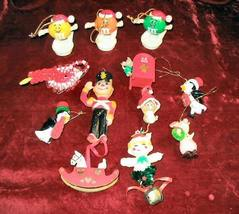 12 Vintage ChristmasTree Ornaments Hanging M&Ms Assorted - $14.50