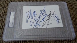 Quiet Riot 1990's Band Signed Autographed 4x6 Index PSA Certified & Slab... - $299.99
