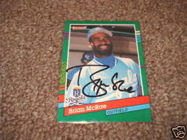 Royals Brian McRae Signed  Basball Card 91 Donruss - $4.00