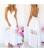 Women Summer #B Boho Lace Long Maxi Evening Party Dress Beach Dresses Su... - $148,46 MXN