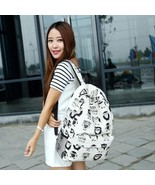 New Girl Canvas Backpack Travel Mustache #B Tiger Gym Owl School Bags Sa... - $165,56 MXN+