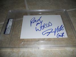 Steven Adler Guns N Roses Signed 4x6 Index Card PSA Certified Mint 9 - $89.99