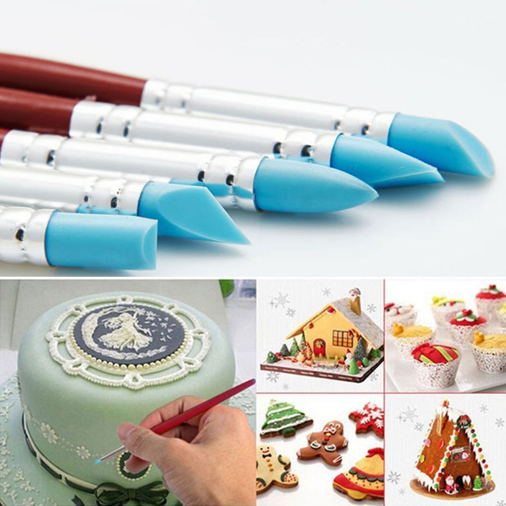 Cake Decor Pens : 5x Silicone Cake Decorating Pen Set #B Food Paint Icing Cupcake Sugarcraft Tools - Cake ...