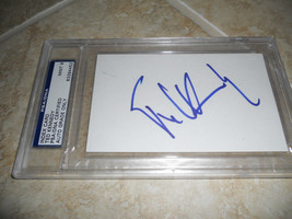 Ted Kennedy Signed Autographed 4x6 Index Card PSA Certified Graded Mint 9 - $149.99