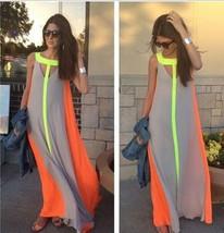Women Summer Boho Long Maxi Dress #B Evening Cocktail Party Beach Chiffo... - $5.59