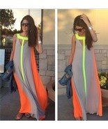 Women Summer Boho Long Maxi Dress #B Evening Cocktail Party Beach Chiffo... - $105,05 MXN