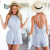 Womens Lady #B Clubwear Halter Playsuit Bodycon Party Jumpsuit Romper Tr... - $6.75
