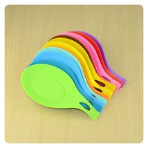 Silicone Spoon Fork Rest Heat #B Resistant Kitchen Utensil Spatula Holde... - $1.66