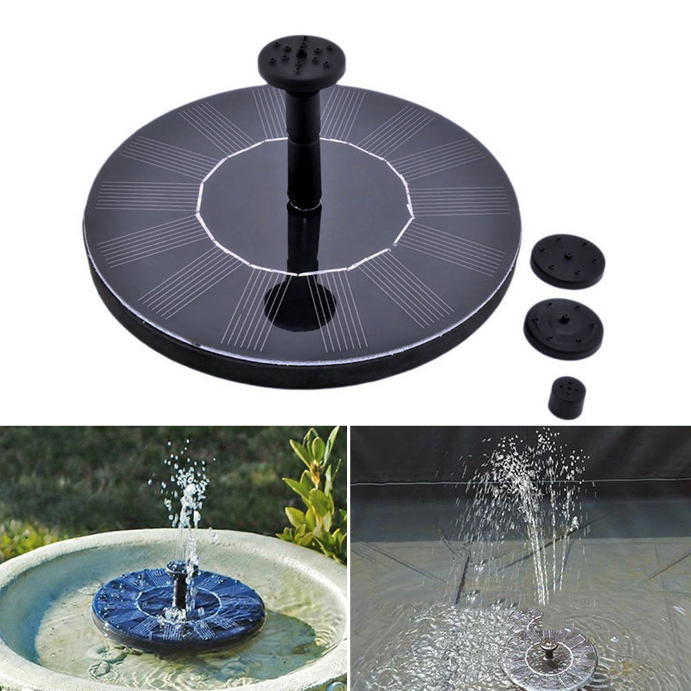 Solar Power Fountain Water Pump Floating Panel Pool Garden #B Pond Watering Kit