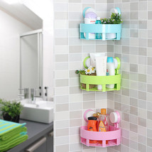 New Home Bathroom Corner Storage Rack Organizer #B Shower Wall Shelf Suc... - $9.38