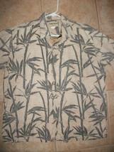 Vintage Cooke Street Mens L Hawaiian Camp Shirt Bamboo Reverse Print - $14.99