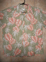 Vintage Cooke Street Mens XL Hawaiian Camp Shirt Red Leaves Reverse Prin... - $14.99