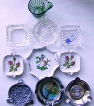 Vintage Ashtray Assortment - Glass -Pewter- Porcelain - $35.00