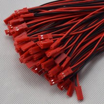 100pcs 100mm JST RC Model #B Plug 22AWG Wire 2 Pin Connector Cable Male ... - $6.63