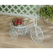 White Bicycle Planter - $61.07 CAD