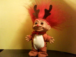 Russ Christmas Reindeer Troll with Red Hair - $23.75