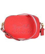 NWT COACH Jes Crossbody Luxury Logo Charm Shoulder Bag Cute Bright Red F... - $128.70