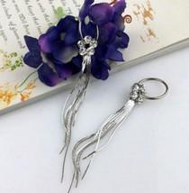 Floral Fringe Earrings - $6.09