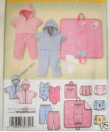 3766 Simplicity Baby Changing Pad Body Suit Hoody UNCUT - $4.99