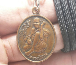 THAI BUDDHA REAL AMULET RICH LUCKY PENDANT NECKLACE LP SUANG MIRACLE MAG... - $67.31