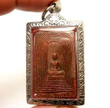 RED PHRA SOMDEJ KAMPANG KAEW LP JONG THAI POWERFUL MAGIC BUDDHA AMULET P... - $98.99