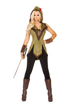 Sexy Roma 2pc Hooded Outlaw Robin Hood Fancy Halloween Costume 10109 - $70.00