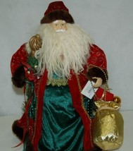 Sterling 382528 Traditional 16 Inch Santa With Staff And Gift Bag image 2