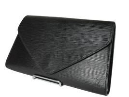 LOUIS VUITTON Arts Deco Epi Leather Black Pochette Clutch Bag LP3673 - $239.00